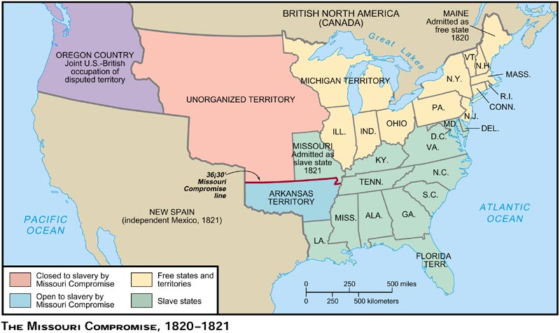 Blank Map Of The U S In 1850 Print Color And Label The Map In Terms Of The Changes From The Map Of The Missouri Compromise Use The Information Below To